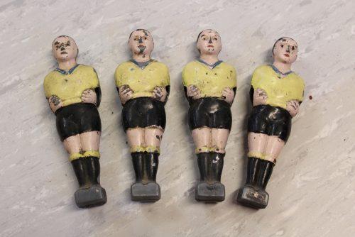 Joueurs baby foot Finale jaune-noir