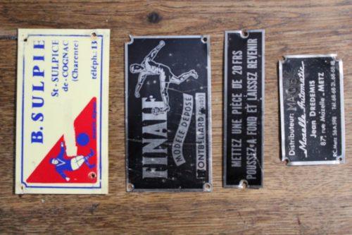 Plaques de baby-foot Vintage