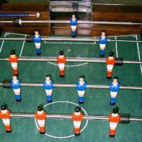 Tapis de jeu baby-foot tracé