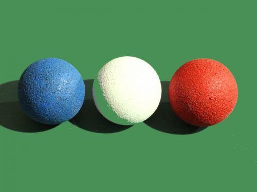 balles de baby foot bleu blanc rouge
