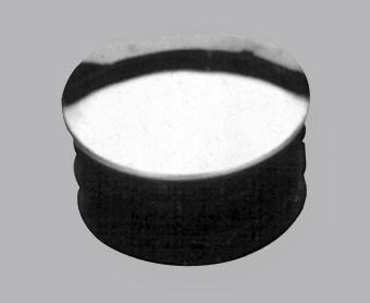 embout métal chromé pour barre 14 mm