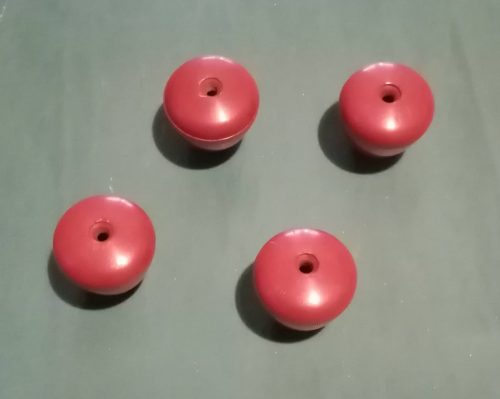 lot 4 poignées rouges 15 M12